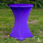 Statafel met rok paars huren - Partytentverhuur Assen