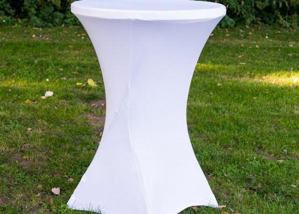 Statafel met rok wit huren - Partytentverhuur Assen