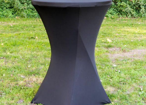 Statafel met rok zwart huren - Partytentverhuur Assen