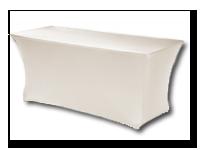 Huren partytafel met witte rok Assen