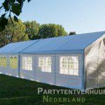 Partytent 6x12 meter zijkant links huren - Partytentverhuur Assen