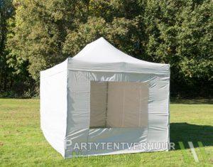 Easy up tent 3x4,5 meter voorkant schuin huren - Partytentverhuur Assen