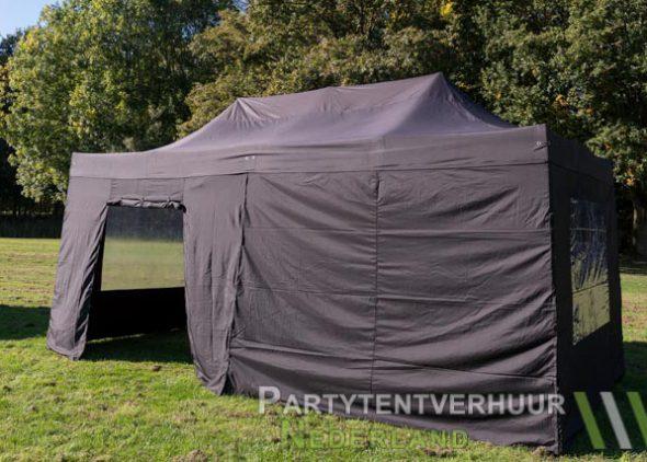Easy up tent 3x6 meter zijkant met deur huren - Partytentverhuur Assen