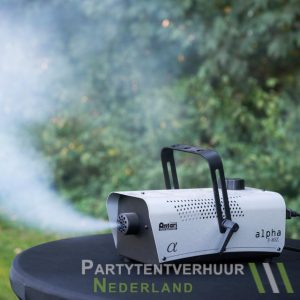 Rookmachine actiefoto huren - Partytentverhuur Assen