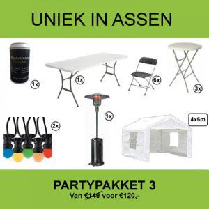 Partypakket huren Assen